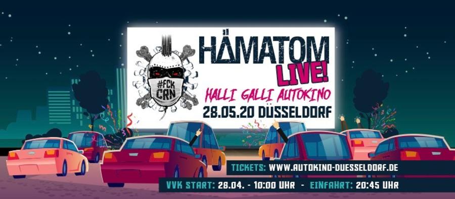Autokino Düsseldorf: Tickets Hämatom LIVE – Halli Galli Autokino